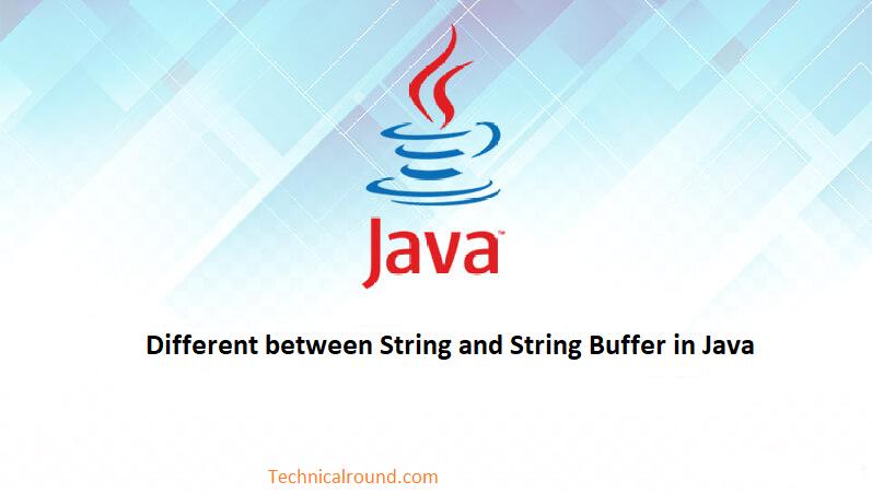 String and string buffer